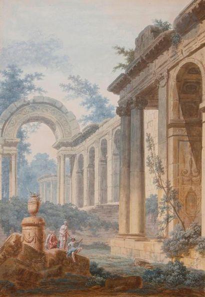 ÉCOLE FRANÇAISE vers 1800, entourage de Jean-Henry-Alexandre...