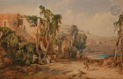Vincent COURDOUAN (Toulon 1810 - 1893) Paysage...