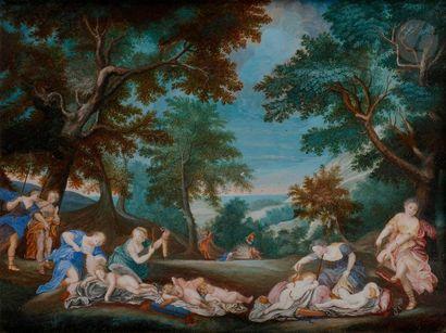 ÉCOLE FRANÇAISE du XVIIe siècle Les Amours...