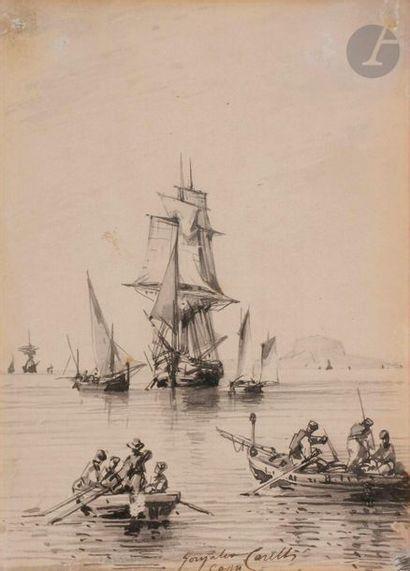 Conzalvo CARELLI (Naples 1818 - 1900) Trois...