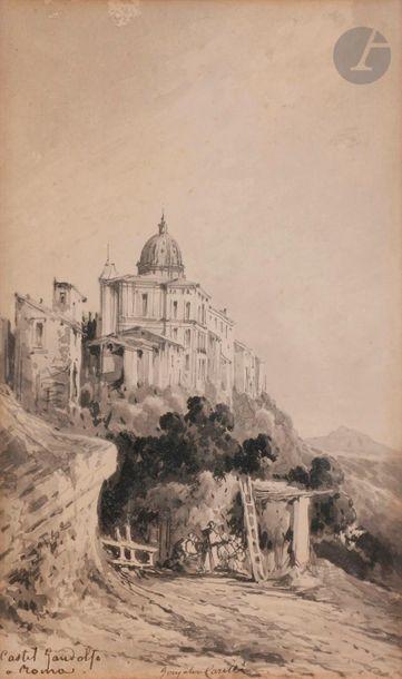 Conzalvo CARELLI (Naples 1818 - 1900) Castel...