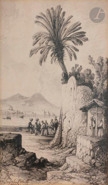 Conzalvo CARELLI (Naples 1818 - 1900) Baie...
