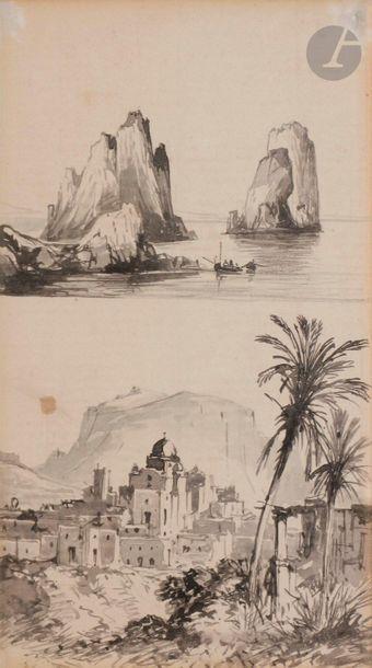 Conzalvo CARELLI (Naples 1818 - 1900) Vues...