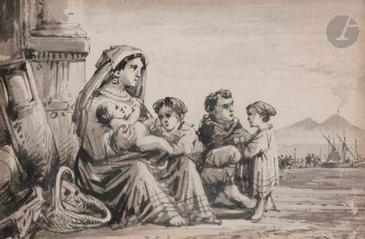 Conzalvo CARELLI (Naples 1818 - 1900) Femmes...