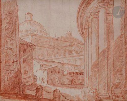 ÉCOLE d'Hubert ROBERT (Paris 1733 - 1808)...