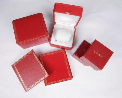 CARTIER Lot comprenant: 2 boîtes et 2 écrins...