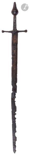 Épée d'estoc  Lame avec traces de dorure...