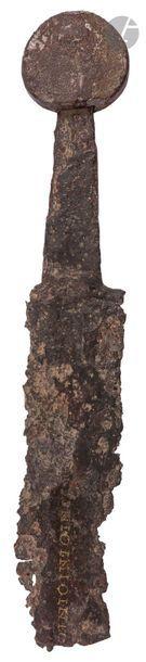 Fragment d'épée médiévale  Lame à gouttière...