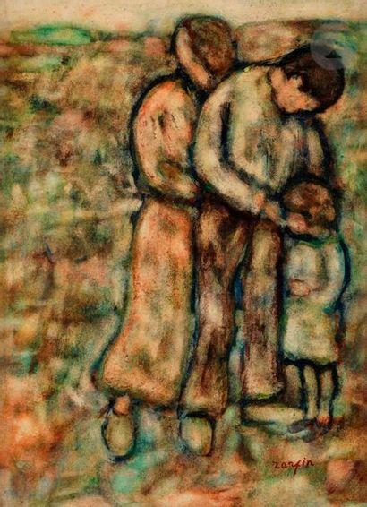 Faïbich Schraga ZARFIN (1899-1975) La Famille,...