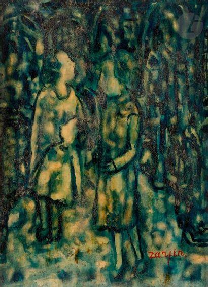 Faïbich Schraga ZARFIN (1899-1975) Deux Femmes...