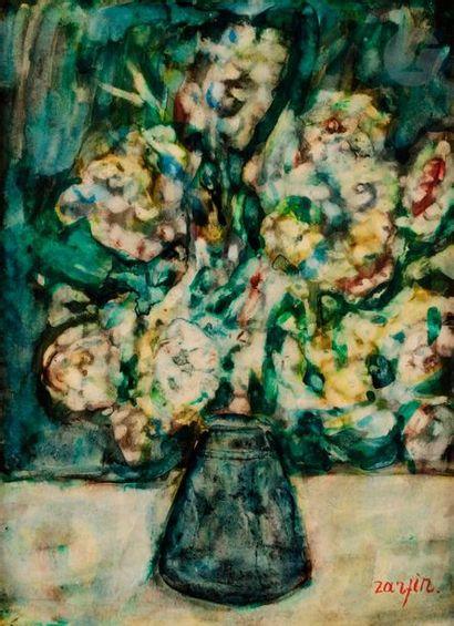 Faïbich Schraga ZARFIN (1899-1975) Bouquet...