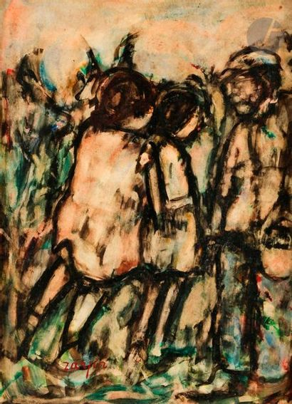 Faïbich Schraga ZARFIN (1899-1975) La Cueillette,...
