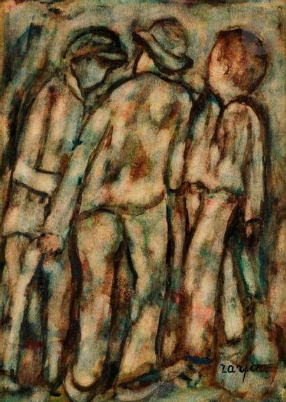 Faïbich Schraga ZARFIN (1899-1975) Trois...