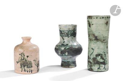 JACQUES BLIN (1920-1995) 3 ŒUVRES Trois vases;...