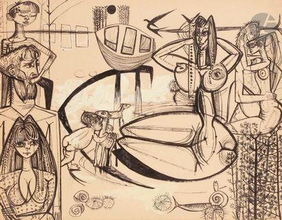 Jacques ARLAND (1929-2018) Composition aux...