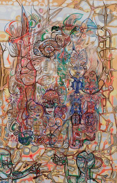 Jacques ARLAND (1929-2018) La Tribu, 1962...