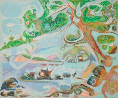 Jacques ARLAND (1929-2018) Paysage à l'arbre...