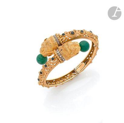 ZOLOTAS Bracelet ouvrant en or 18K (750),...