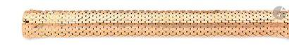 Bracelet ruban souple en or 18K (750). Travail...