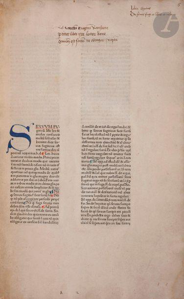 BARTOLUS DE SAXOFERRATO. Lectura Bartoli...