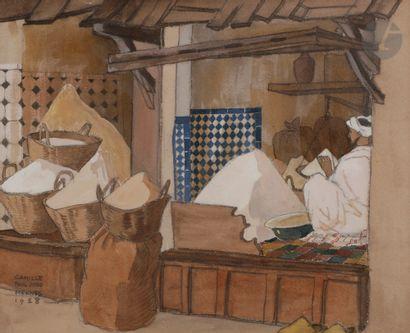 Camille Paul JOSSO (1902-1986) Meknes, marchands...
