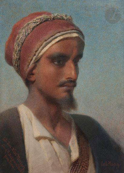 Carl HAAG (1820-1915) Portrait d'Ali Ben...