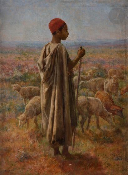 John-Lewis SHONBORN (1852-1931) Jeune pâtre...