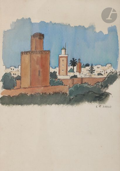 Camille Paul JOSSO (1902-1986) Vue de Meknes...