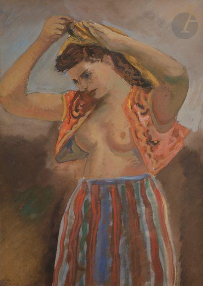 *Adolphe FEDER (1886-1945) Jeune mauresque,...