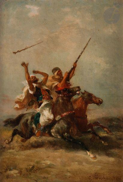 Georges WASHINGTON (1827-1910) Cavaliers...