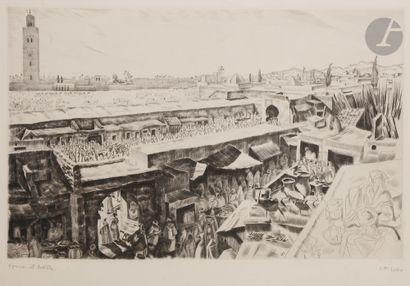 Camille Paul JOSSO (1902-1986) Meknes; Remparts;...