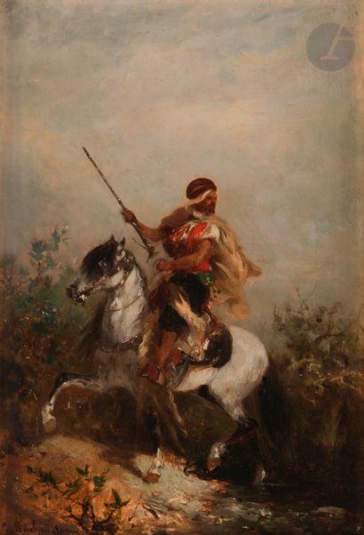 Georges WASHINGTON (1827-1910) Cavalier arabe...