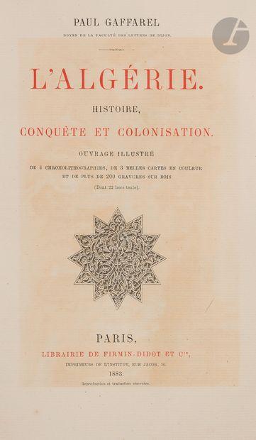 [ALGÉRIE] Gaffarel P., L'Algérie - Histoire,...