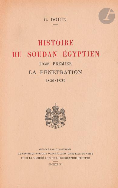 [SOUDAN, ÉGYPTE] Douin G., Histoire du Soudan...