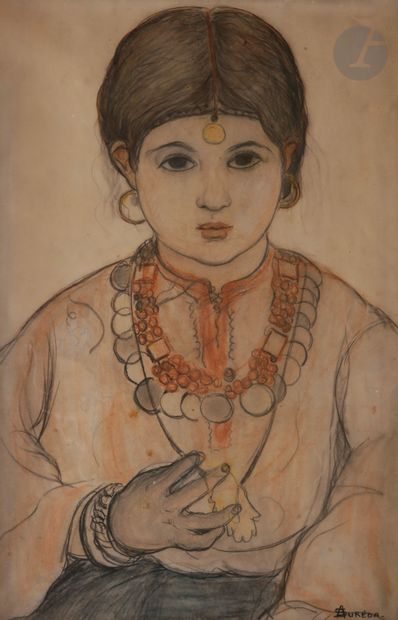 André SUREDA (1872-1930) Portrait de jeune...
