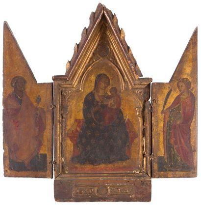 École OMBRIENNE vers 1380 La Vierge à l'Enfant,...