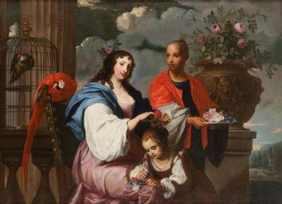 École FLAMANDE du XVIIe siècle Portrait d'une...