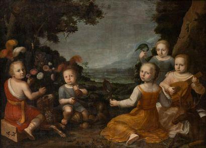 Ecole hollandaise vers 1640 Allégorie des...