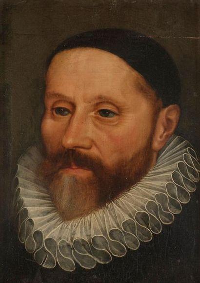 École HOLLANDAISE du XVIIe siècle Portrait...