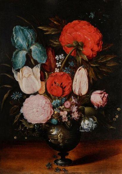 Ecole ANVERSOISE vers 1620-1630   Bouquet...