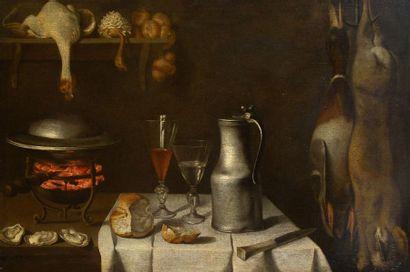 Attribué à Albrecht KAUW (1621-1681) Nature...