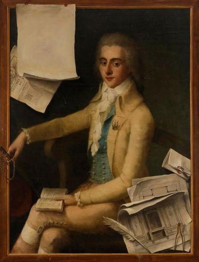 École FRANÇAISE vers 1785 Portrait d'architecte...