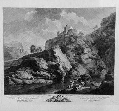 Christian Wilhelm Ersnt DIETRICH (Weimar, 1712 - Dresden, 1774) Les Roches Canvas....