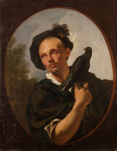 École FRANÇAISE vers 1750 Jeune homme tenant...