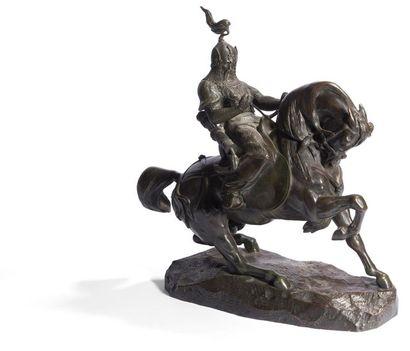 Antoine-Louis Barye (1796-1875) Guerrier...