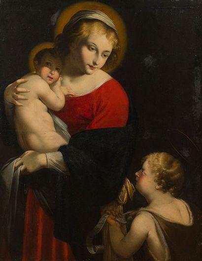 École ITALIENNE du XVIIe siècle Vierge à...