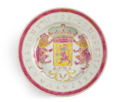 Chine Ensemble de six assiettes en porcelaine...