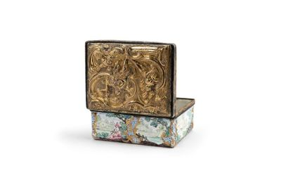 TABATIÈRE XVIIIe SIÈCLE Boîte rectangulaire...