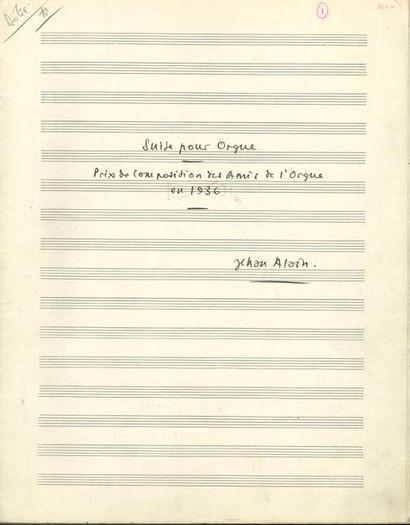 ALAIN Jehan (1911-1940). MANUSCRIT MUSICAL...