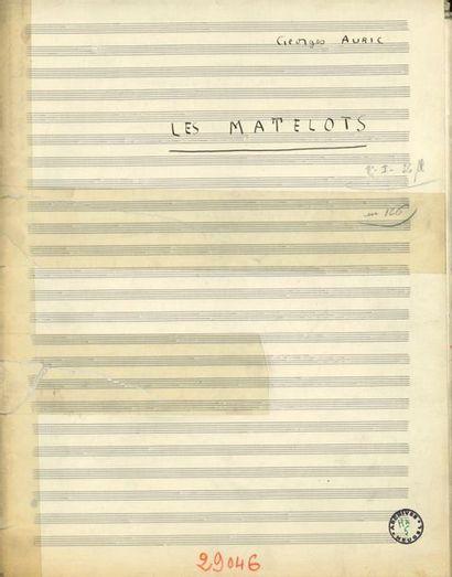 AURIC Georges (1899-1983). MANUSCRIT MUSICAL autographe signé «Georges Auric»,...
